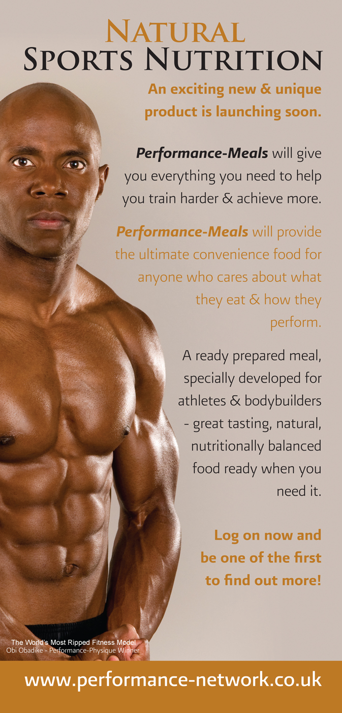 The UK Banner For Natural Sports Nutrition That Was Displayed At The Body Power Expo in Europe