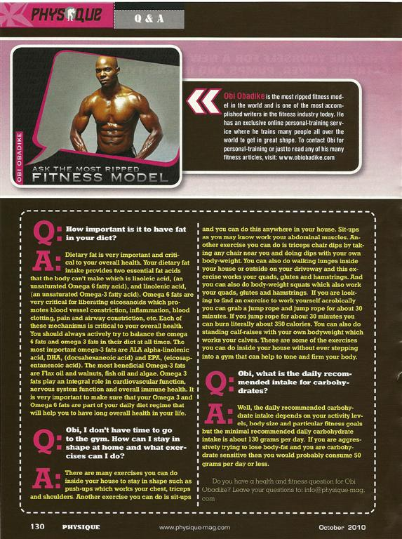 TopFitnessModelObi'sPhysiqueOctColumn